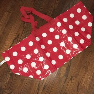 New IKEA Red & White Polka Dot Bag Tote Frakta